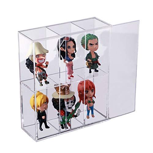 Vetrina acrilica trasparente montata con porta scorrevole, espositore giocattolo antipolvere, scatola di presentazione per mini statuine Funko Mini Pop, 19,5 x 7 x 23 cm
