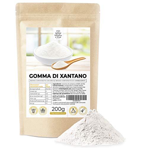 Gomma di Xantano 275g Puro al 100% | Ideale in cucina per la preparazione di salse dolci gelati impasti e drink | Ottimo per la Cucina Molecolare