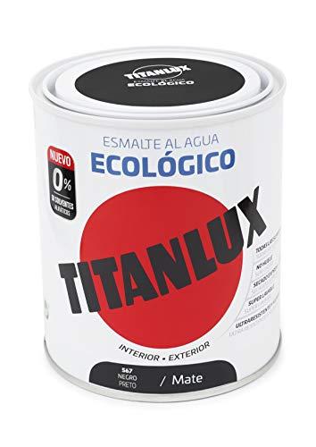 Titanlux - Esmalte eco, Mate negro, 750ML (ref. 02T056734)