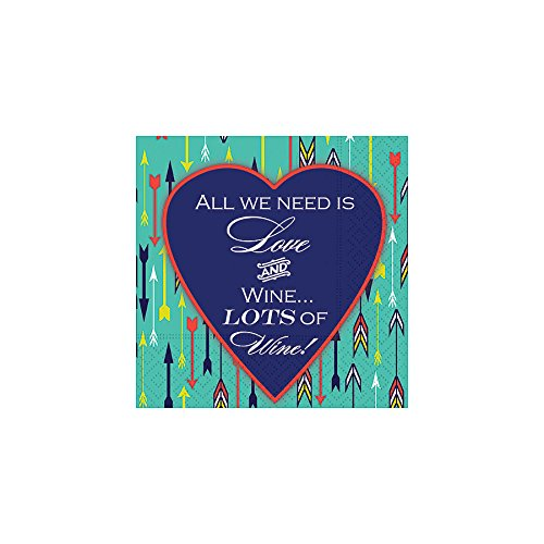 Design Design All We Need Is Love Cocktail Napkins, Multicolor