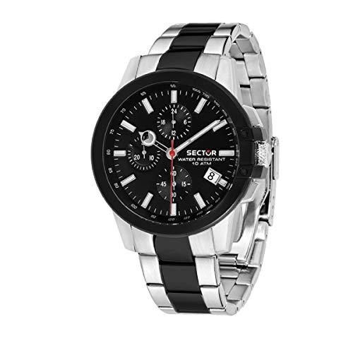 SECTOR Reloj Cronógrafo para Hombre de Cuarzo con Correa en Acero Inoxidable R3273797002