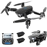 RC Drone Pliable avec Caméra HD 4K WiFi FPV Vidéo en Temps réel,Helicoptère Télécommande Quadcopter, Avion Mini Drone Pliable Drone avec caméra, 3*Batteries, Jouet Cadeau pour Débutant et Enfant