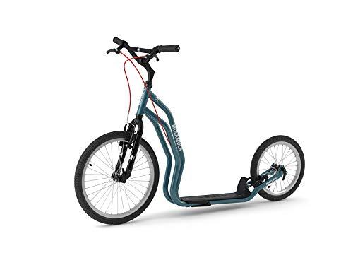 Yedoo Scooter Tretroller Mula RunRun 20/16 Zoll V-Brake Offroad-Reifen blau für Erwachsene und Jugendliche - optimiertes Nachfolgemodell des Mezeq New V-Brake