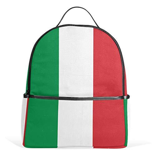 Rucksack für Schule, College, Studenten, Laptoptaschen, Rucksack mit Italienischer Flagge