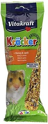 Vitakraft Kracker Hamster Small Animal Food Honey-Spelt, Pack of 5 from Vitakraft