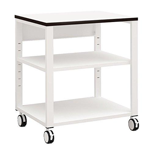 家具のAKIRA プリンター台 プリンターラック 幅60cm 奥行45cm 高さ70cm ホワイト