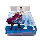 Franco Kids Bedding Super Soft Plush Microfiber Blanket, Twin/Full Size 62' x 90', Disney Frozen 2