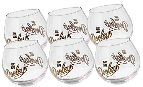 Dooleys Toffee 6 original Tipper Gläser
