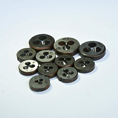 LF&LQEW 1 Juego de Mini métricas Manual de roscado Muere de M1-M2.6 for diyer Haciendo tamaño pequeño de Aluminio de Acero de la Pieza de Metal del Cobre Hilos (tamaño : 12PCS)