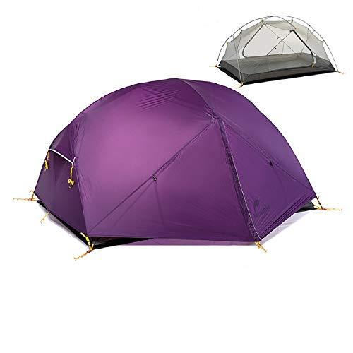 Naturehike Mongar 3 Saison Tente Camping 20D Nylon Fabic Double Couche Imperm�Able Tente pour 2 Personnes NH17T007-M