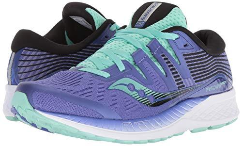 Saucony Ride Iso, Chaussures de Running Femme, (Violet/Black/Aqua 035), 44 EU