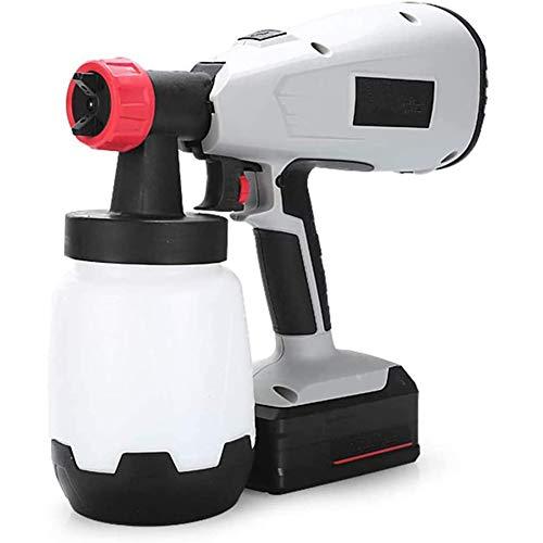 WZM Sprayer Hand-Held 42V 400W Li-Ion High Pressure Spray Gun Electric Rechargeable Paint Spray Gun Nozzle Adjustable Decking