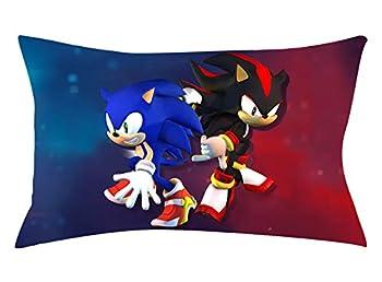 Gotbble Sonic The Hedgehog Game Animation Throw Pillow Cover Decorative Throw Pillowcase Cushion Cover 20 × 30