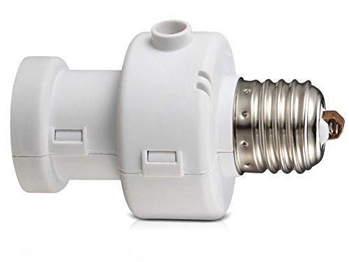 Maclean MCE21W Couvrir l'ampoule avec minuterie de capteur de luminosité timer Sensor Pir E27 100W