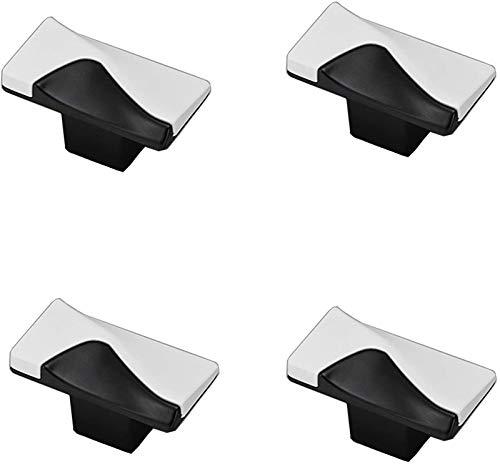 GIAOYAO 4 unids negro mangos blanco estilo de vestir del vestuario de la puerta del vestuario de la puerta de la aleación de zinc de la puerta de la puerta de la puerta de la puerta del jardín de la p