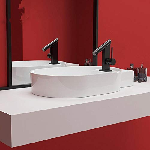 Hiwenr Kunst keramische pot wastafel wit opzetwasbak kom kom rond ovaal moderne eenvoudige stijl toilet wastafel