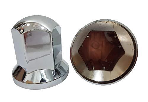 Unbekannt 20 Stück x 32mm Kunststoff Radmuttern Kappen Chrom Schrauben Abdeckungen Deko LKW