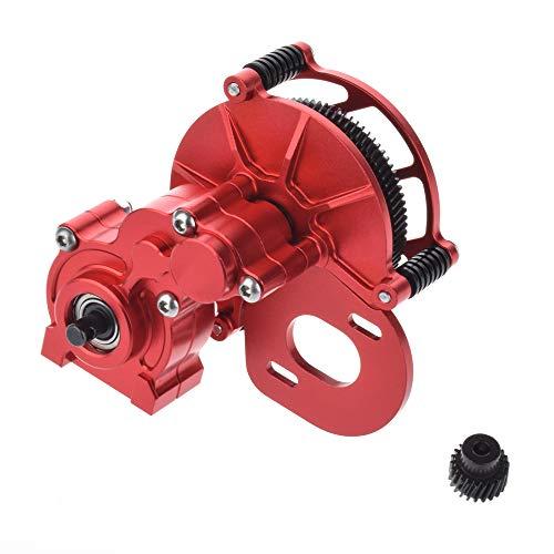 Vaorwne Legierung CNC Fahrgestell / Getriebe Verteiler Getriebe Mittel Getriebe Getriebe GEH?Use 2 Gang für 1:10 RC4WD Axial SCX10 Wraith Honcho RC, Rot