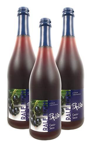 Palio - Cassis Secco 3x 0,75l - Fruchtiger Cassis Perlwein - Prämiert aus Deutschland
