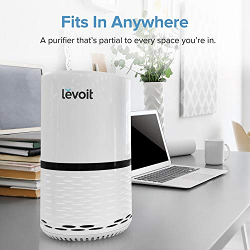 LEVOIT Air Purifier for Home Smokers Allergies and Pets Hair, True HEPA Filter, Quiet in Bedroom, Filtration System Cleaner Eliminators, Odor Smoke Dust Mold, Night Light, 2-Yr Warranty,LV-H132,2PACK