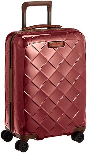 [ストラティック] スーツケース ジッパー レザー&モア 機内持ち込み グッドデザイン賞 保証付 35L 55 cm 2.61kg カーマインレッド