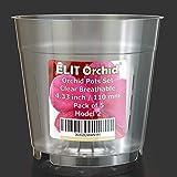 Macetas para orquídeas con agujeros – Juego de macetas de plástico transparente transpirable – Paquete de 5 unidades (11 cm)