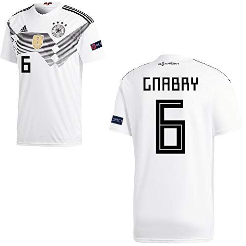 adidas Fußball DFB Deutschland Home Trikot WM 2018 Herren Gnabry 6 mit Respekt Logo Gr M