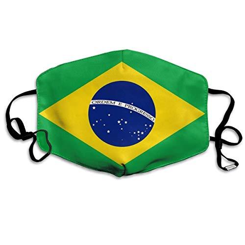 Shichangwei Schlauchschal Drucken Multifunktionstuch Brazil Flag Unisex Adult Ear Loop - Warm Cycling Various Use Adjustable Mund-Nasen-Schutz
