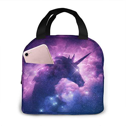 Galaxy Nebulosa Unicornio Fiambrera aislada impermeable para comida preparada para picnic, camping, trabajo, viajes
