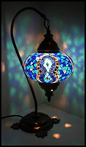 Mosaik - Stehlampe L Tischlampe Mosaiklampe blau orientalische mosaik lampe mosaic lamp