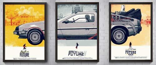 Conjunto 3 Quadros De Volta Para O Futuro Kit Poster Moldura
