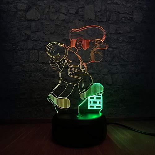 Mixed 7 kleurverandering doos USB kosten 3D LED tafellamp voor baby nachtslaap nachtlampje wooncultuur kinderdaggeschenk
