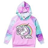 Unicorn Hoodie for Girls Sweatshirts Raglan Sleeve Kids Shirts Clothes,Size 6 7