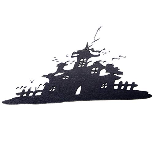 HROIJSL Halloween Vliestür hängen Halloween Vliestür hängen Dekor Spukhaus Fledermaus Home Party Decor für Wand Tür Fenster Dekoration Stück Halloween Deko Tisch Türen Deko Prop