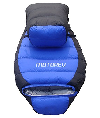 Buy Motorev Blue Travelling Duck Feather Army Sleeping Bag with Cover- Blue & Black