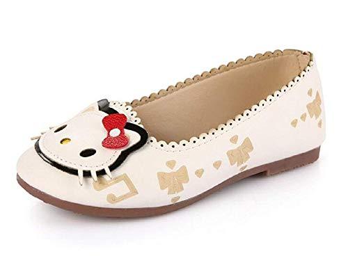 Zapatos - Bailarinas para niñas - Hello Kitty - Color Blanco - Talla 32 EU - Idea de Regalo de cumpleaños - Navidad - Fiesta
