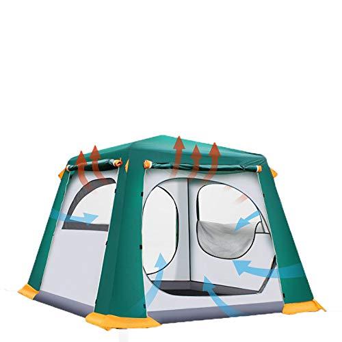 AOGUHN tent - Ultralarge 4-6 Persoons Automatisch Professioneel Winddicht Kamperen Tent Dubbellaags Waterdicht Strandtent Met Sneeuwrok