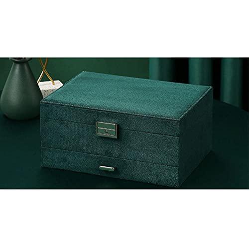 ASDMRQ Joyero, caja de almacenamiento de joyas de tres capas, collar, pendientes, anillo, expositor, caja de joyería de gran capacidad para mujer
