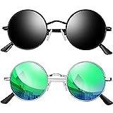 22. Joopin Polarized Lennon Round Men's Sunglasses