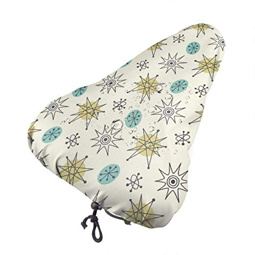 Traveler Housse Selle Vélo Vintage Atomic Protective Waterproof Dust Resistant Fits MTB City Bike Durable Bicycle Saddle Cover