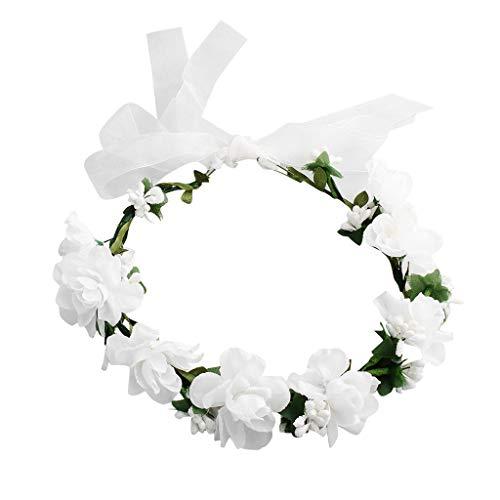 Bandeau cheveux de mariage floral Couronne Couronne de fleurs Mariage Floral Bandeau Femmes Fleur Tête Couronne Demoiselle D'honneur Fleurs De Mariée Filles Accessoires De Cheveux Sunenjoy
