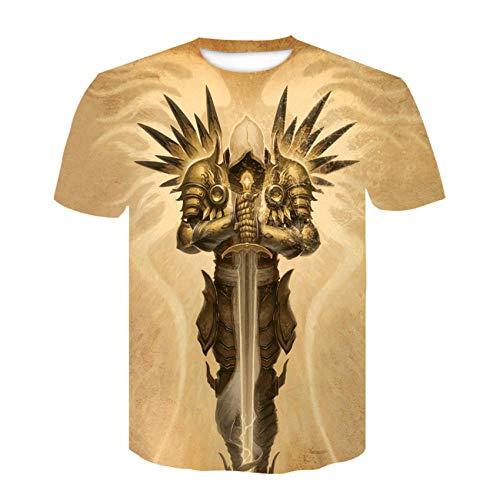 Unisex 82D Printed T-Shirt,Fashion Men's Round Neck T-Shirt 3D Poster Image Digital Printing Short sleeve-35_M