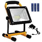 KAMEUN 50w Foco LED Portátil, IP65 Luz de inundación portátil,360° Giratorio Portátil Luz de Trabajo...