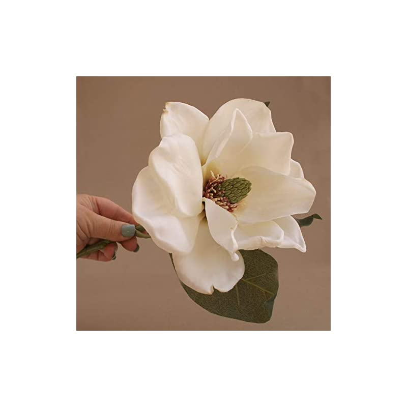 silk flower arrangements wedding artificial flora - jumbo cream magnolia with or without stem - artificial flower, silk flower stem - pre-order
