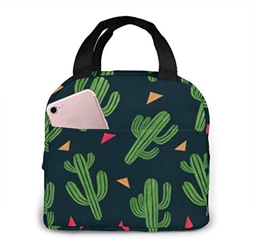 Lunchpaket, Isolierte Lunchbox, Cute Cactus Lightweight Portable Insulated Lunch Bags Handtaschen für die Arbeit in der Schule