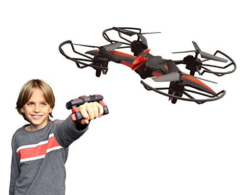 Neat-Oh! Mime-Control Dino-Drone Toy Figure Playsets, Red/Black