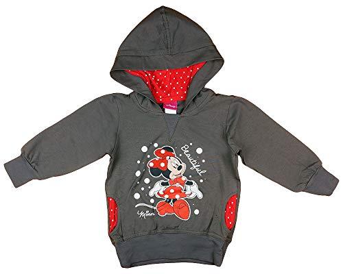 Mädchen Kapuzen-Pullover-Jacke-Pulli mit Minnie Mouse, Disney, 2 3 4 5 Jahre, Langarm in Größe 80 86 92 98 104 110 116 in Rot gepunktet (Modell 2, 98)