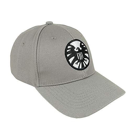 Captain Marvel Cosplay Hat Shield Logo Hats Size Adjustable Cap Baseball Caps Gray