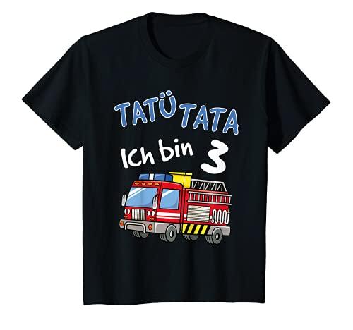 Kinder T-Shirt 3. Geburtstag Jungen Feuerwehrauto 3 Jahre Shirt T-Shirt