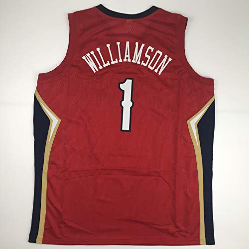 Unsigned Zion Williamson New Orleans Red Custom Stitched Basketball Jersey Size Men's XL New No Brands/Logos